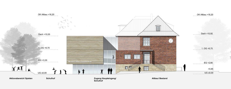 Architekten Coesfeld erweiterung und sanierung der ehemaligen jakobischule zur martin